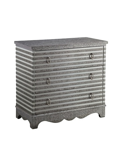 Coast to Coast Sarsdale Silver Three Drawer Chest