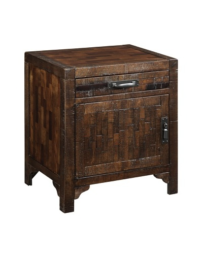 Coast to Coast End Table with 1 Drawer, Brown