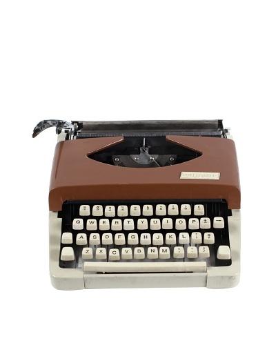 Collegiate Vintage Typewriter, Tan/Cream