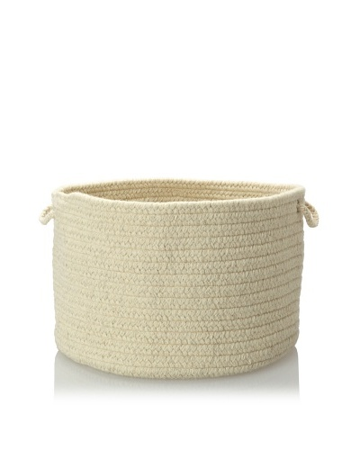 Colonial Mills Solid Storage Baskets, Ivory