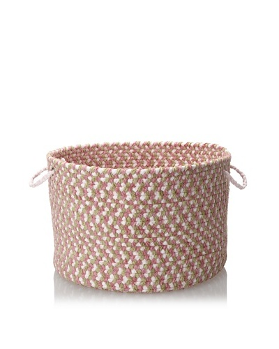 Colonial Mills Chenille Multi Mix Storage Baskets, Petal Pink