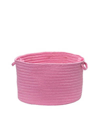 Colonial Mills Summer Solids Indoor/Outdoor Storage Basket [Hot Pink]