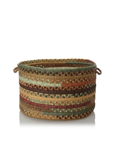 Colonial Mills Quilted Patchwork Textured Fabric Storage Baskets, Southern Chestnut