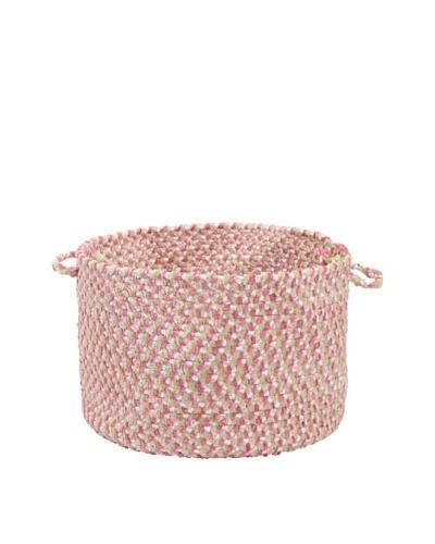 Colonial Mills Blokburst Basket, Tea Party Pink, 18x18x12