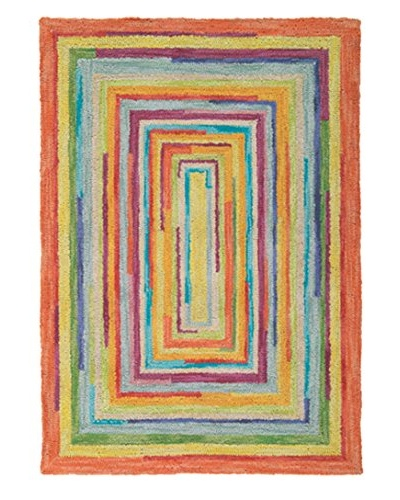 Company C Concentric Squares Rug, Multi, 10' x 14'