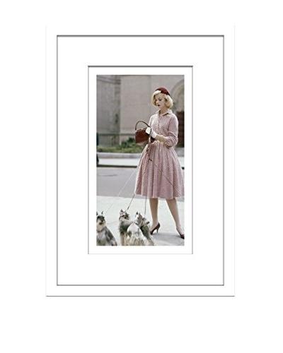 Conde Nast Glamour Magazine Model Walking Dogs Editorial Art