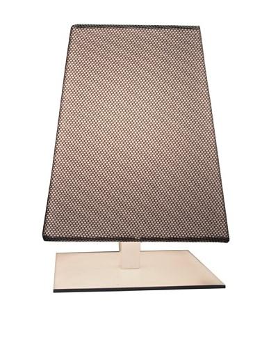 Contardi Quadra TA Kensington Table Lamp, Mesh Grey Fabric