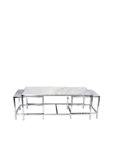 Control Brand The Svendborg Set of 3 Coffee Table Set, White MarbleAs You See