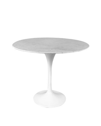 Control Brand Marble Tulip Side Table, White