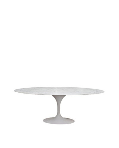 Control Brand 79 Marble Tulip Dining Table, White