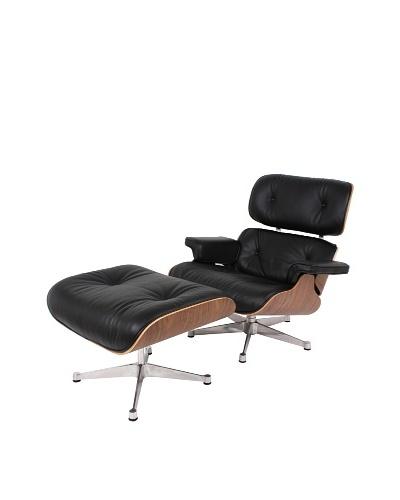 Control Brand Lincoln Lounge Chair & Ottoman, Black