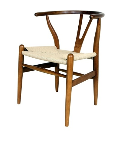 Control Brand Wishbone Chair, Brown/Yellow