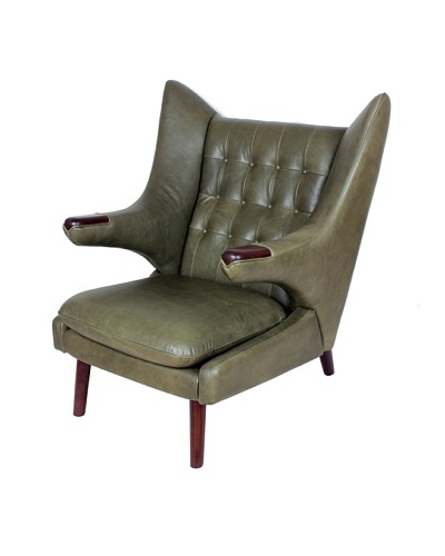 Control Brand Olsen Leather Lounge Chair, Antique Green