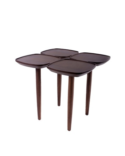 Control Brand Petal Side Table, Walnut