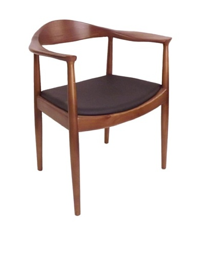 Control Brand DC-604-BROWN The Kennedy Chair In Walnut Finish - Solid Ash Timber