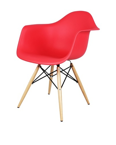 Control Brand Mid-Century-Inspired X-Leg Arm Chair [Red]