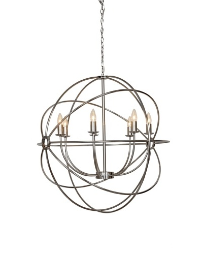 Control Brand Grand Vasteras Chandelier, Nickel