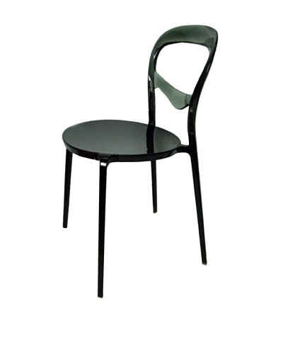 Control Brand The Smoked Bistro Chair, Black