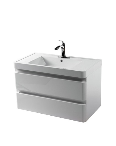 Control Brand Ohey Wall-Mount Sink Cabinet with 2 Drawers