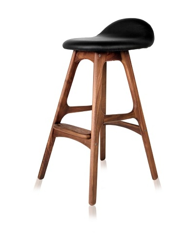 Nature-Inspired Barstool, Natural/Black