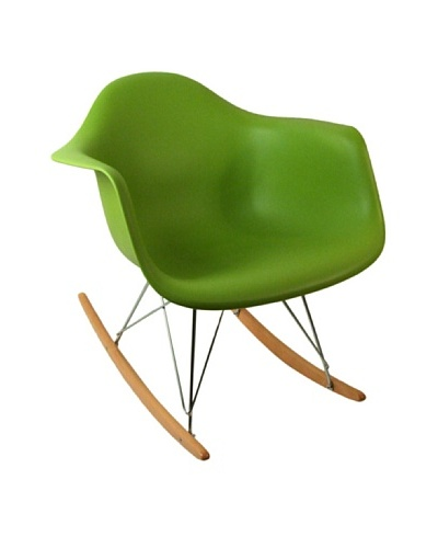 Control Brand Adult-Sized Mid-Century-Inspired Rocking Chair, Green