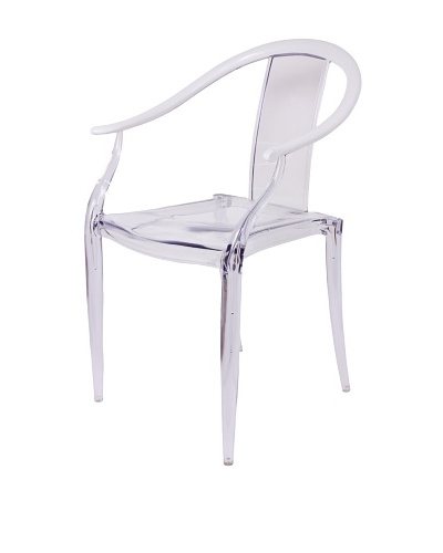 Control Brand Ming-Inspired Chair, Clear