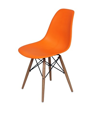Control Brand Mid-Century-Inspired X-Leg Dining Chair, Orange