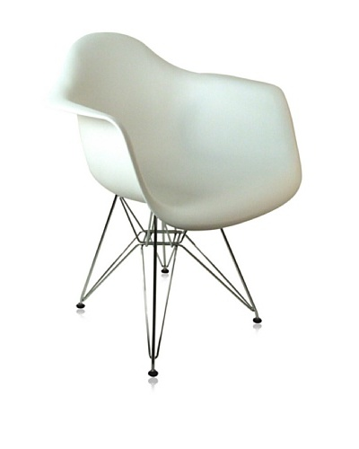 Control Brand Mid-Century-Inspired Eiffel Dining Arm Chair, White