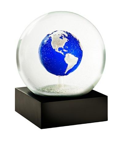 CoolSnowGlobes Blue Earth Snow Globe