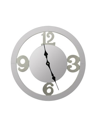 Cooper Classics Wells Wall Clock, SilverAs You See