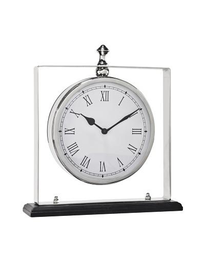 Cooper Classics Dayton Clock, Shiny NickelAs You See