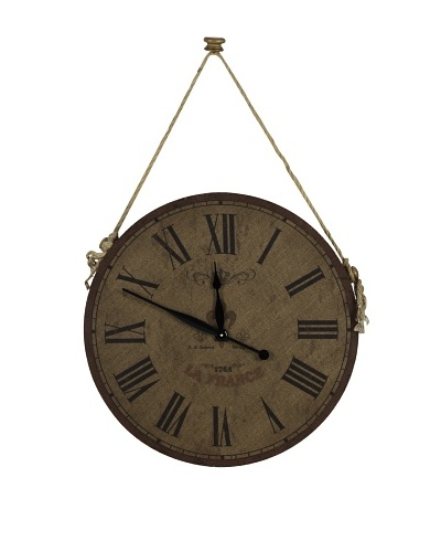 Cooper Classics Jaybrook Wall Clock, NaturalAs You See