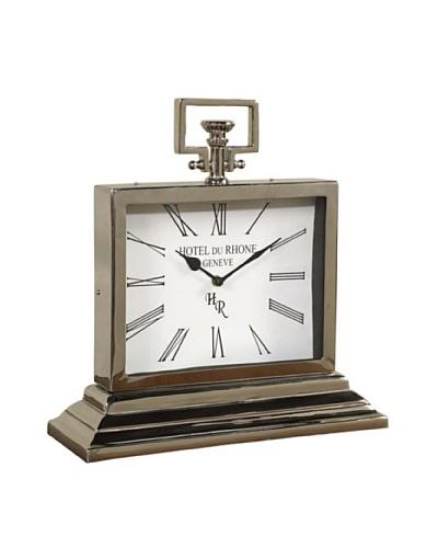 Cooper Classics Walker Clock, Shiny Nickel