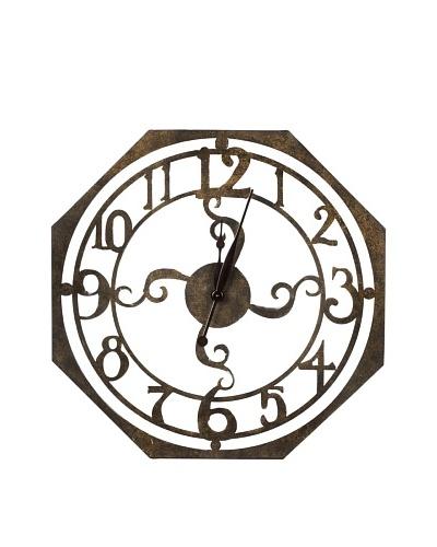 Cooper Classics Ruhard Wall Clock, Bronze
