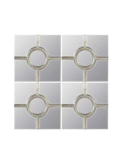 Cooper Classics Set of 4 Marguerita Mirrors
