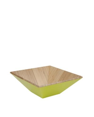 Core Bamboo Matte-Finish Square Bamboo Bowl [Lime]