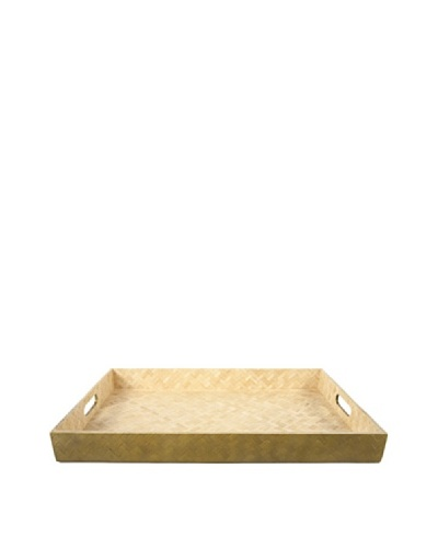 Core Bamboo Matte-Finish Rectangular Woven Bamboo Tray
