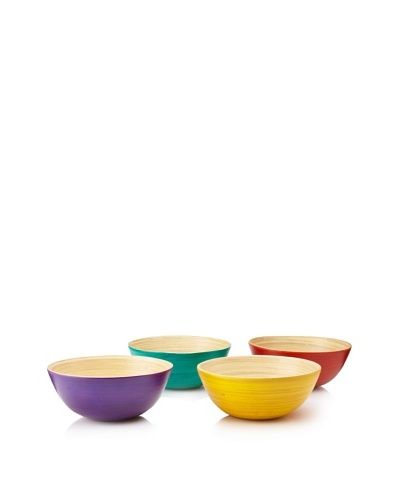 Core Bamboo Set of 4 New Orleans Collection Small Bowls, Assorted