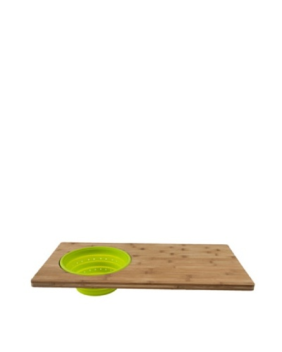 Core Bamboo Over-The-Sink 2-in-1 Cutting Board, Lime