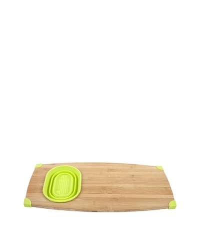 Core Bamboo Corner-Grip Over-the-Sink Cutting Board [Lime]