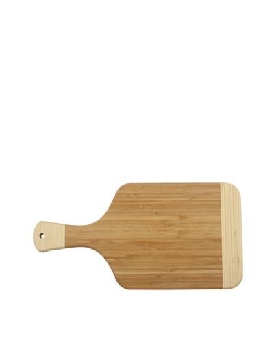 Core Bamboo Peony Paddle Cutting Board, Dark/Natural, Medium