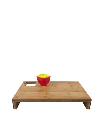 Core Bamboo Prep Station with Measurement Bowls, Strawberry/Mandarin/Banana/Lime, Large