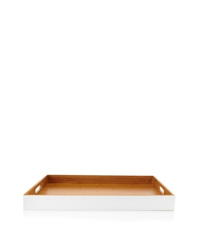 Core Bamboo Matte-Finish Classic Rectangle Tray, Snow