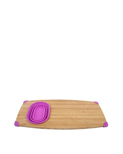 Core Bamboo Corner-Grip Over-the-Sink Cutting Board