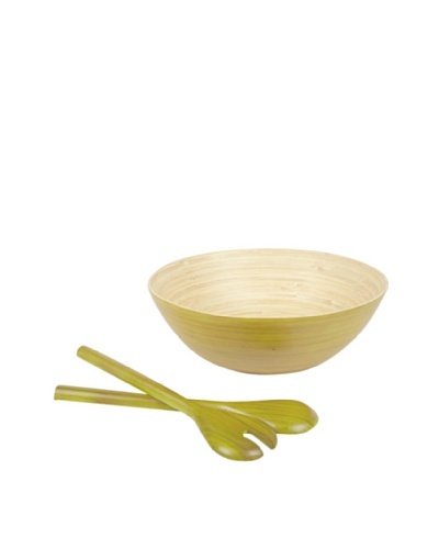 Core Bamboo Modern Round Bowl and Server Set