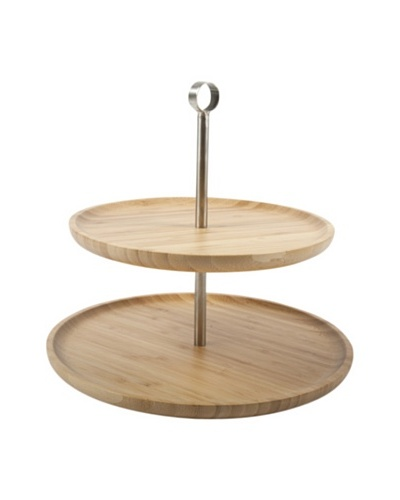 Core Bamboo Two-Tier Serving Tray