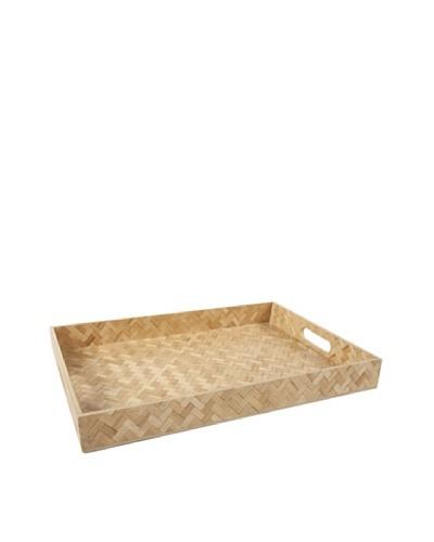 Core Bamboo Rectangle Zig-Zag Weave Trays