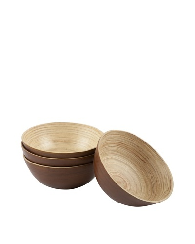 Core Bamboo Set of 4 Modern Round Bowls