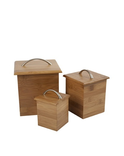 Core Bamboo Bamboo Canister Set, Natural