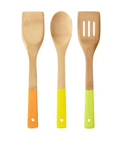Core Bamboo Colorful Essentials Bamboo Utensil Set, Miami